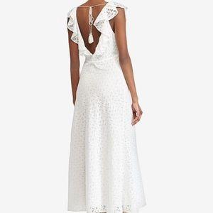 Polo Ralph Lauren Eyelet Cotton Open Back Dress 8